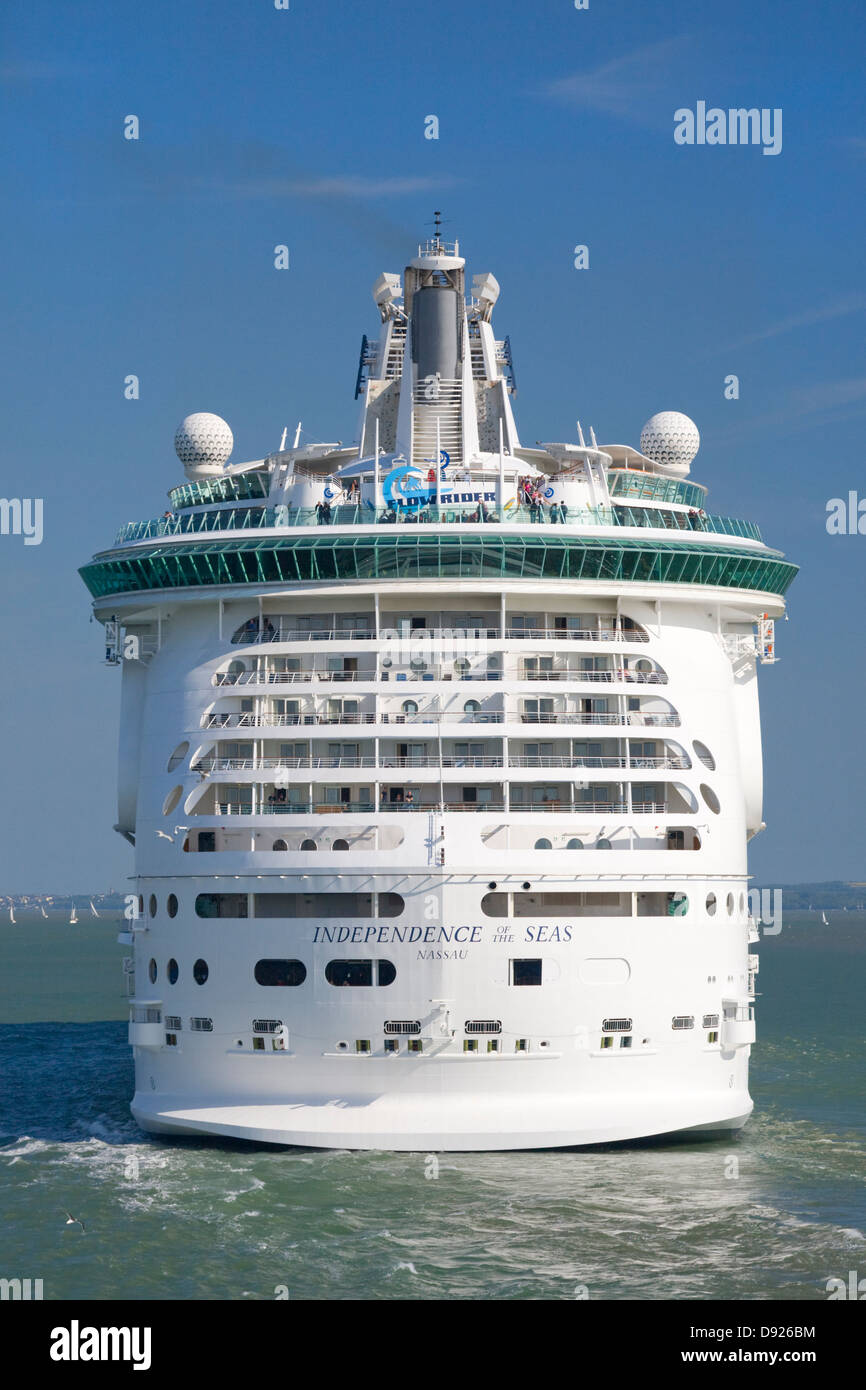 Independence of the Seas cruise ship in the Solent, Southampton - Stock Image