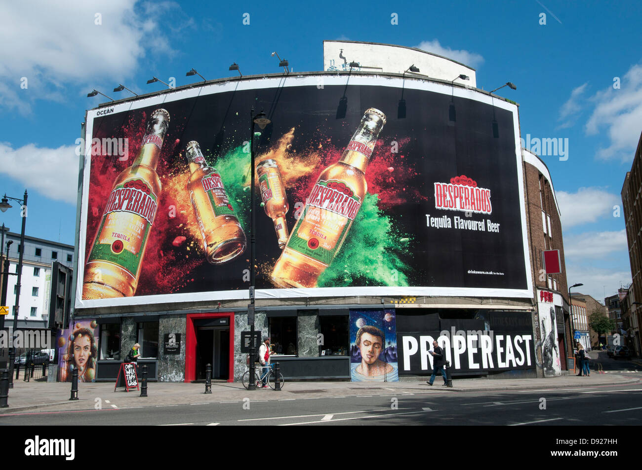 The Foundry Shoreditch With Large Advert For Desperados Tequila Stock Photo Alamy
