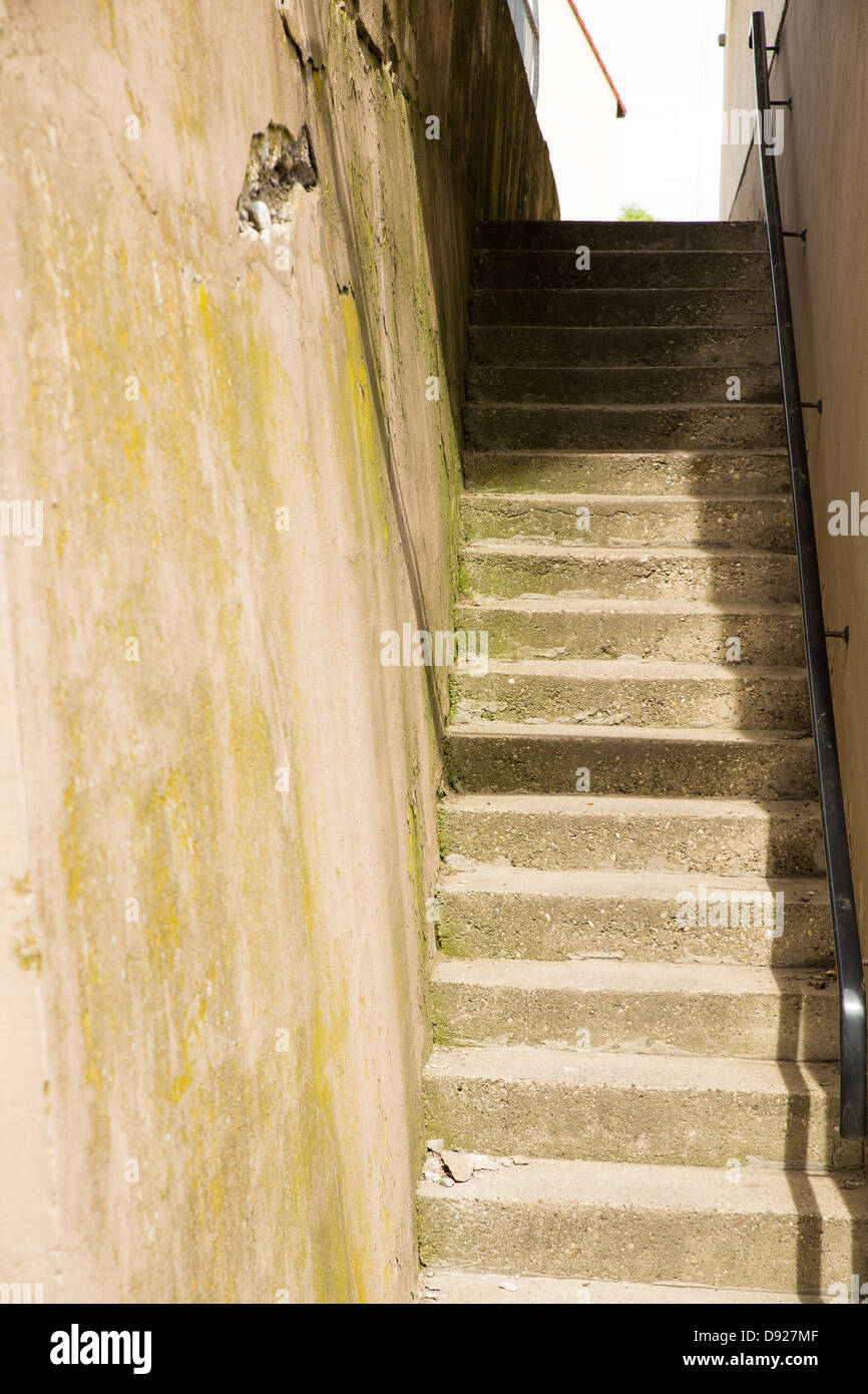 Old Stone Staircase Between Two Stock Photos Old Stone Staircase