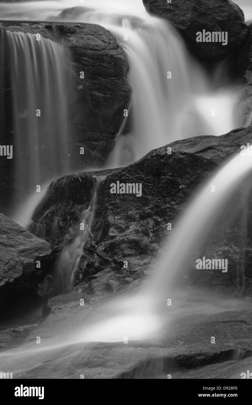 Waterfalls and river stream in Vengedalen, Rauma kommune, Møre og Romsdal fylke, Norway. - Stock Image