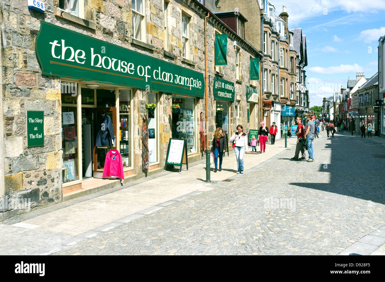 Shops and Shoppers Fort William main street Highlands Scotland UK Stock Photo