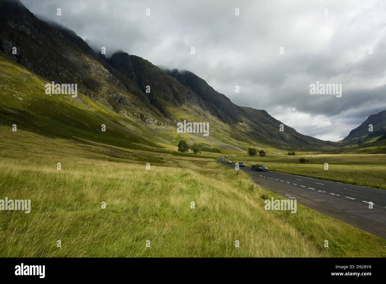 The A82 passes through Glen Coe in the scottish highlands - Stock Image
