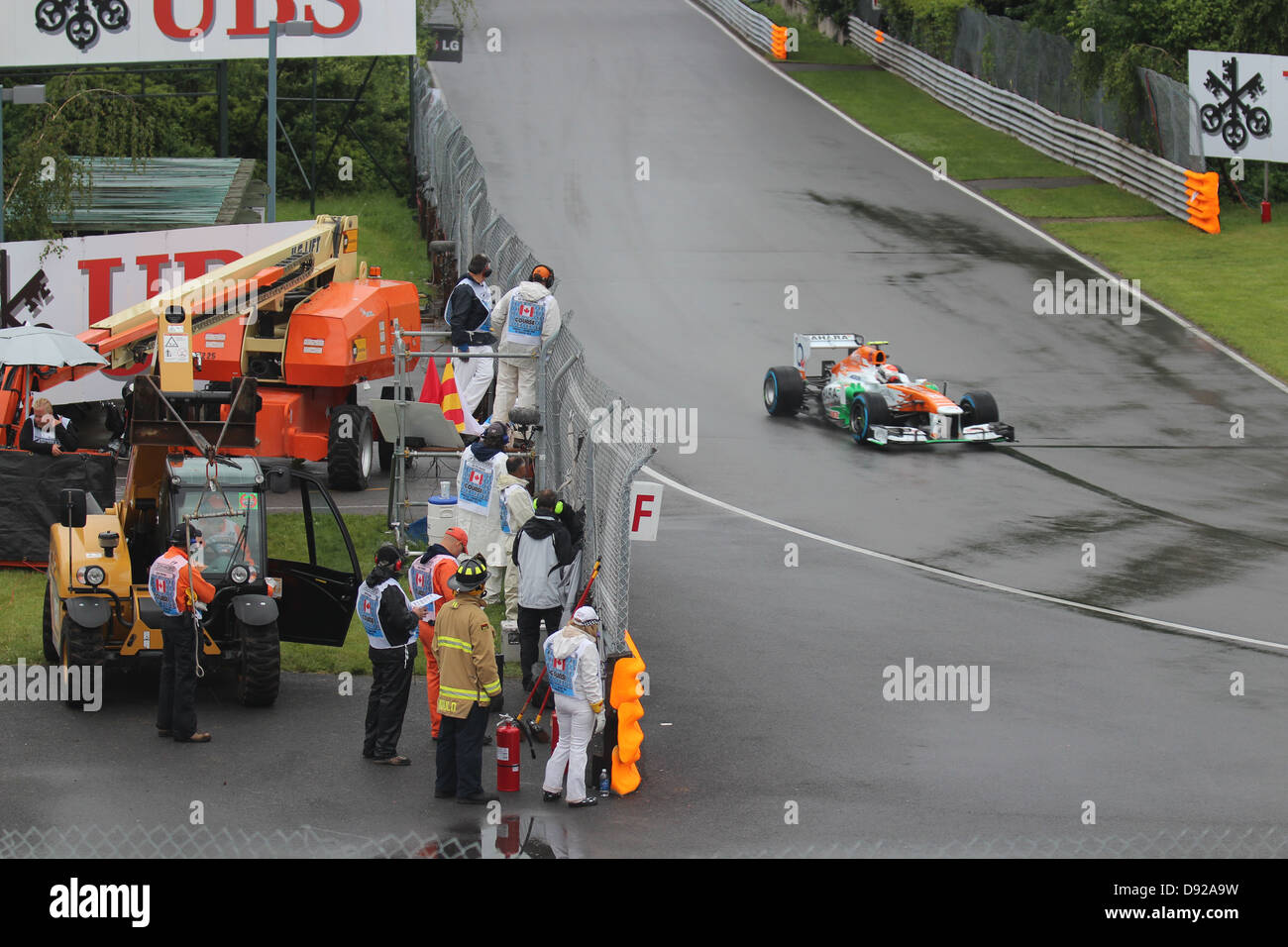 Force India team car, 2013 Montreal Grand Prix Stock Photo