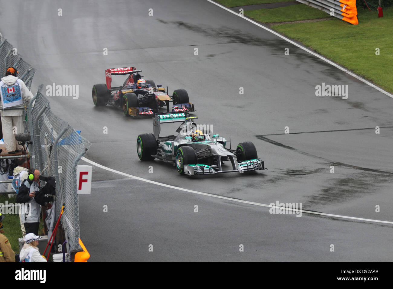 Formula one racing Toro Rosso and Mercedes cars Stock Photo