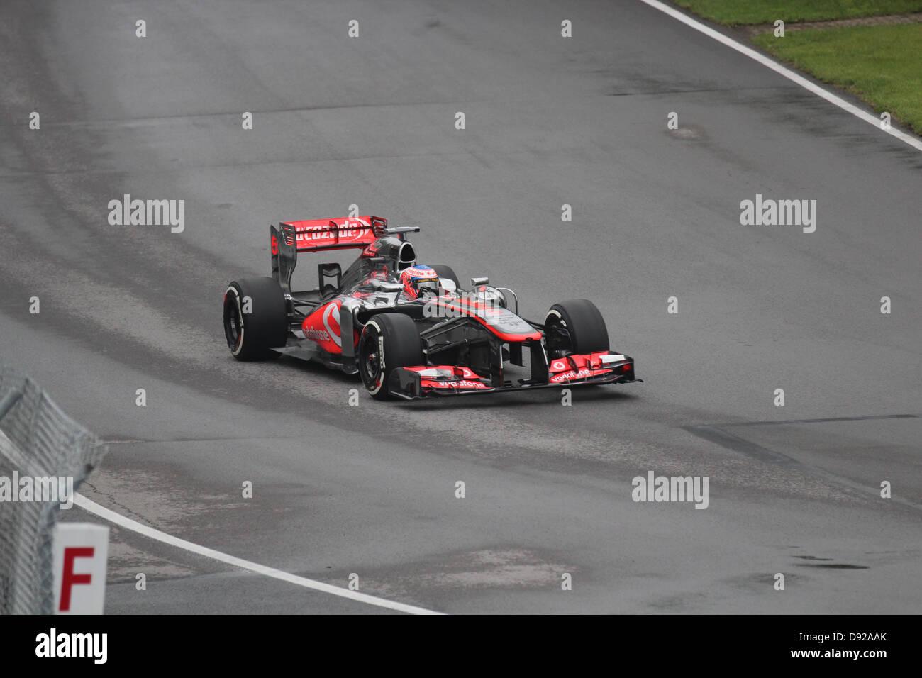 Jenson Button Formula 1 racing in Montreal Canada Stock Photo