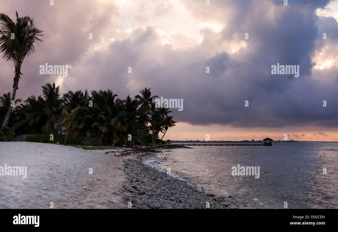 Sunrise - Seven Mile Beach, Grand Cayman - Stock Image