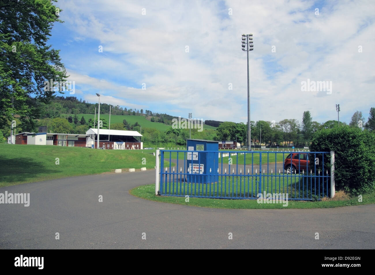 Selkirk Rugby Football Club, Borders, Scotland, UK - Stock Image