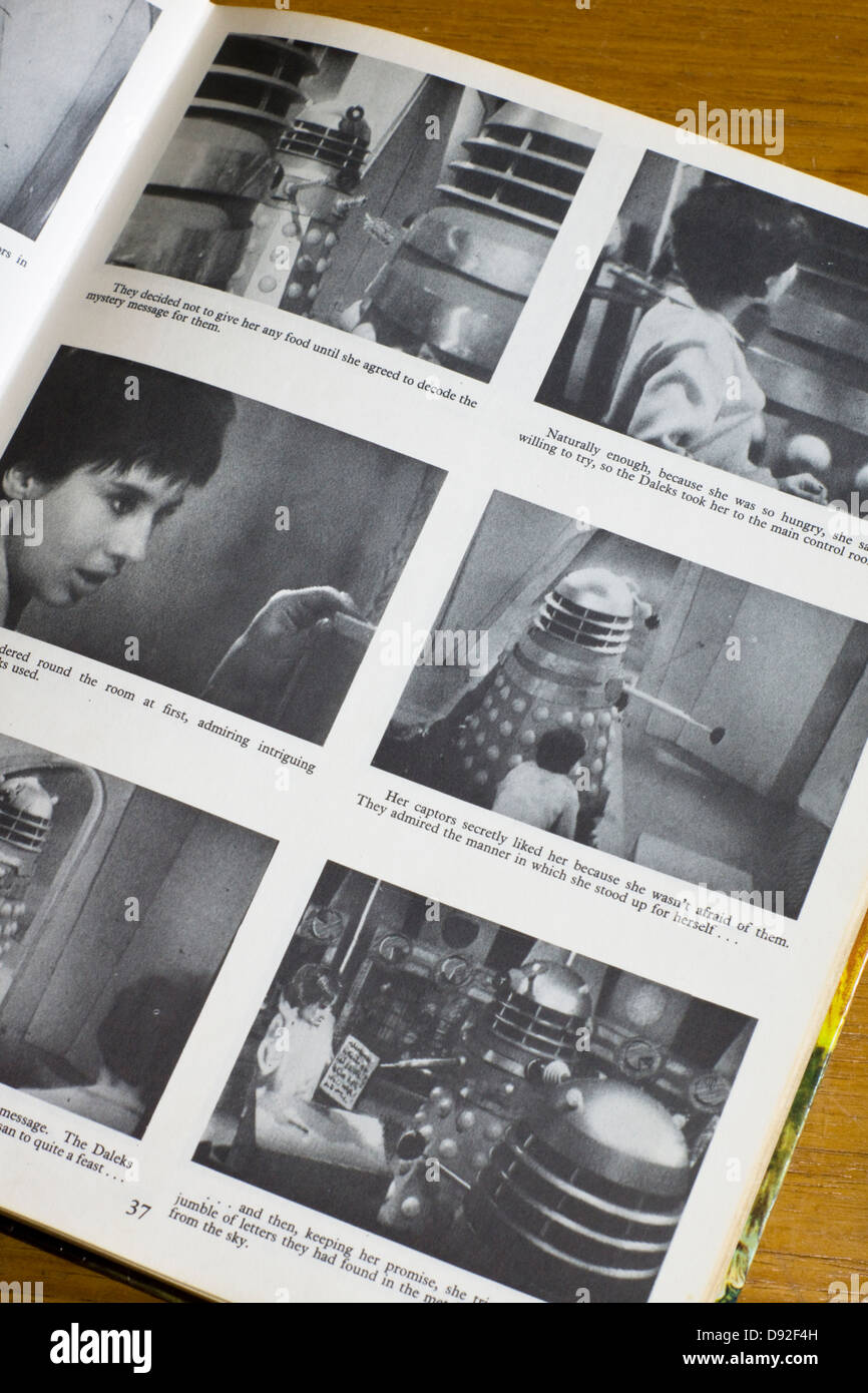 Dr Who and the Daleks books from the 1960's - Stock Image