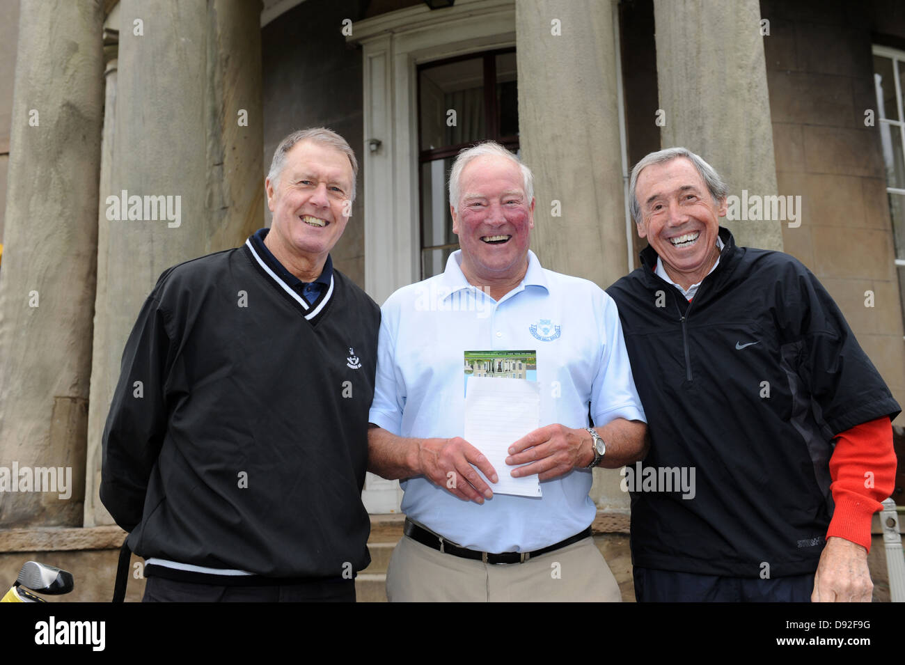 Englands 1966 world cup winning squad re-united on Brocton Hall Golf Course  Geoff Hurst, Ron Flowers, Gordon Banks - Stock Image