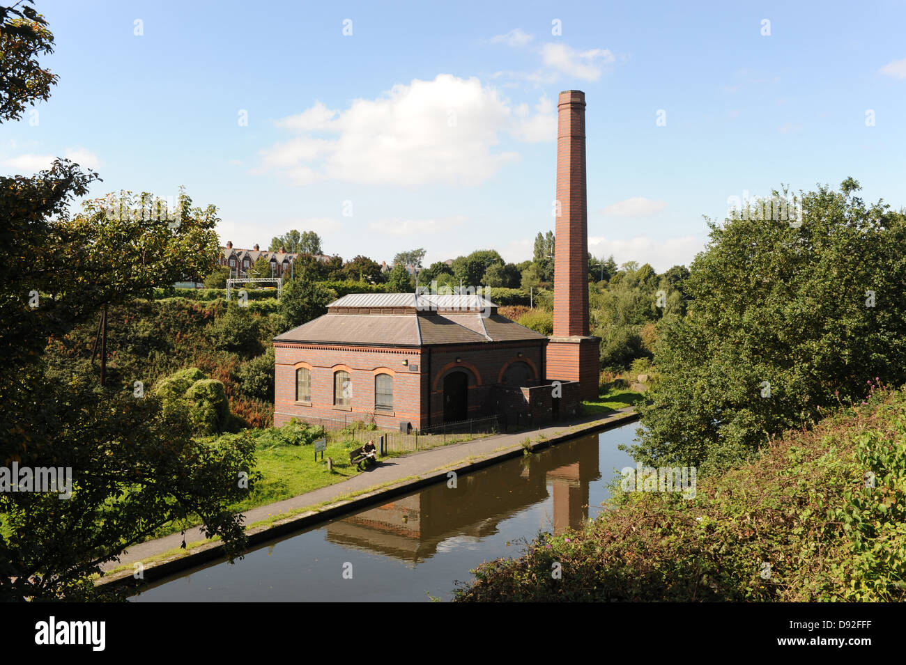 The new Smethwick Pumping Station in Sandwell and the Old Birmingham Main Line Canal - Stock Image