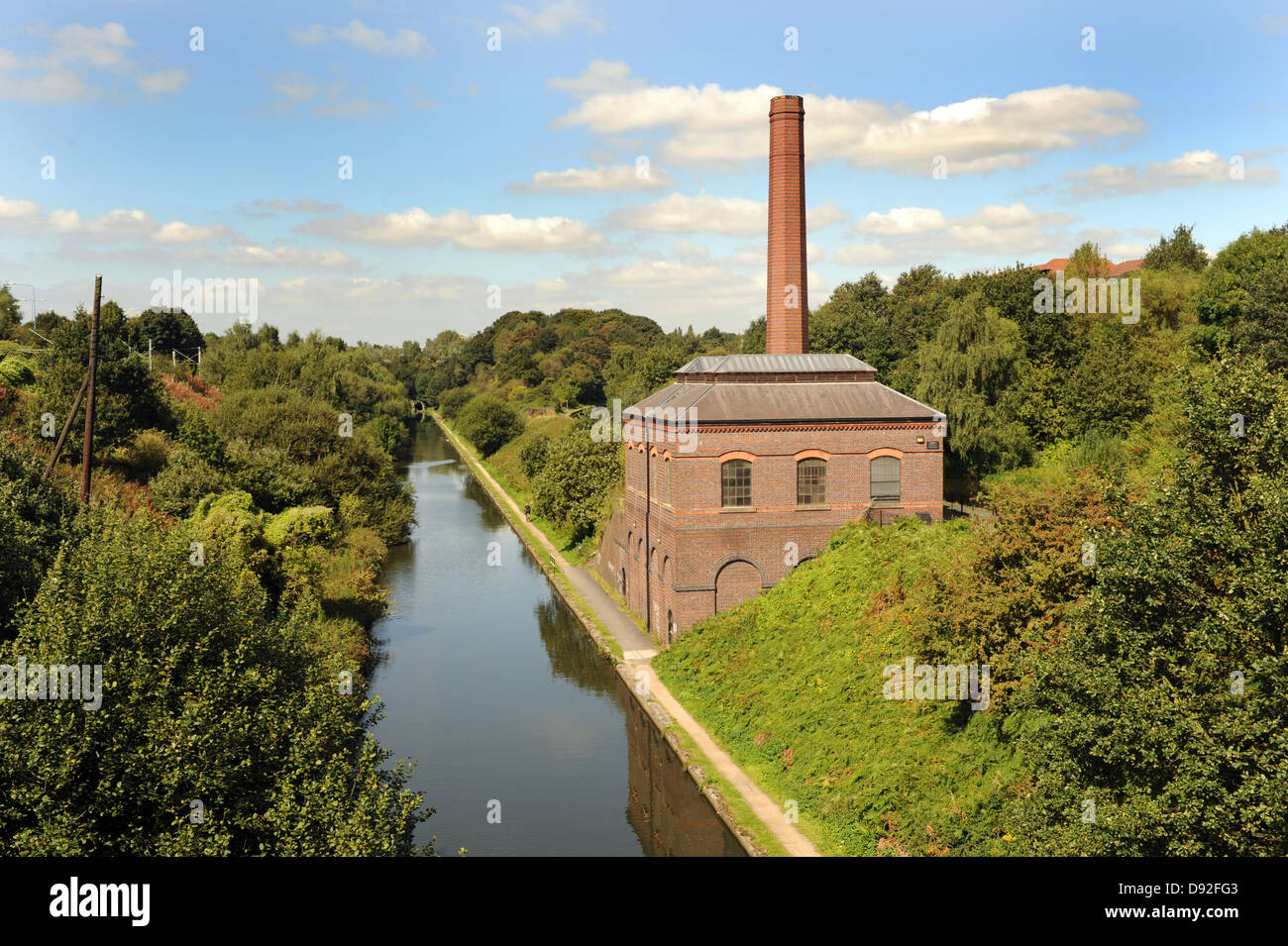 The new Smethwick Pumping Station in Sandwell and the New Birmingham Main Line Canal - Stock Image