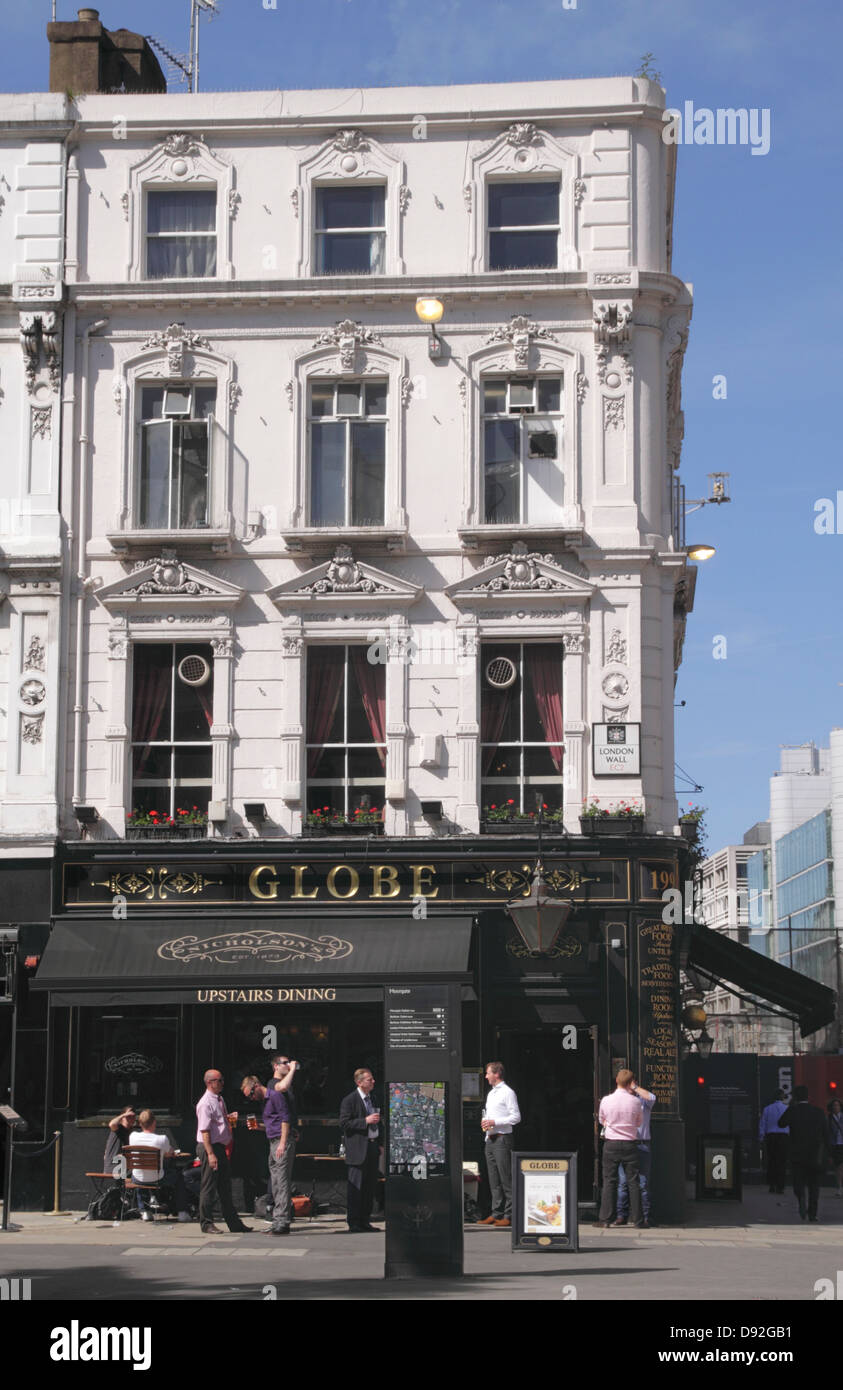 The Globe Pub Moorgate London - Stock Image