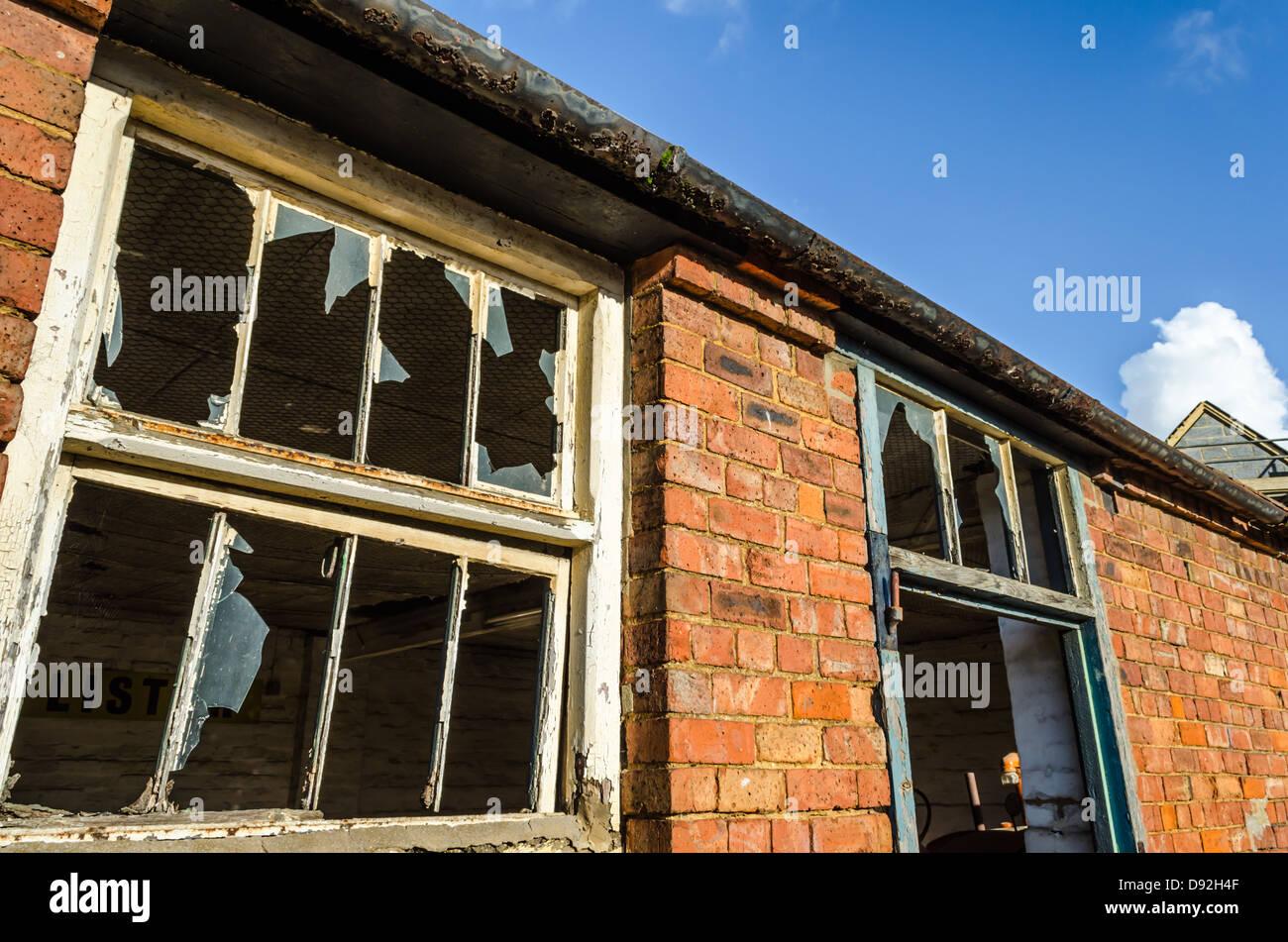 Old brick building in Moreton. Moreton-in-Marsh, Gloucestershire, England. - Stock Image