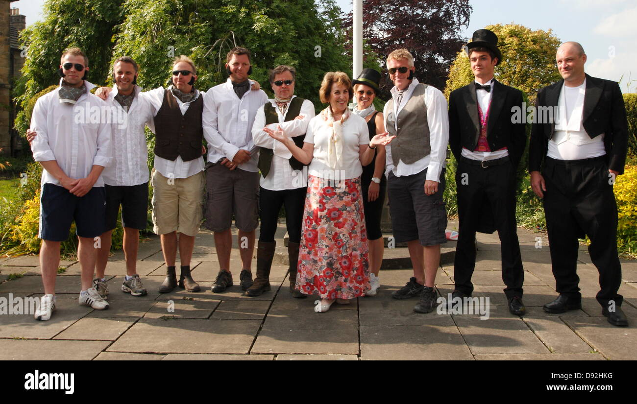 Bakewell, Derbyshire,UK. 9th June 2013. Former MP Edwina Currie presides over the Best Dressed Darcy competition - Stock Image