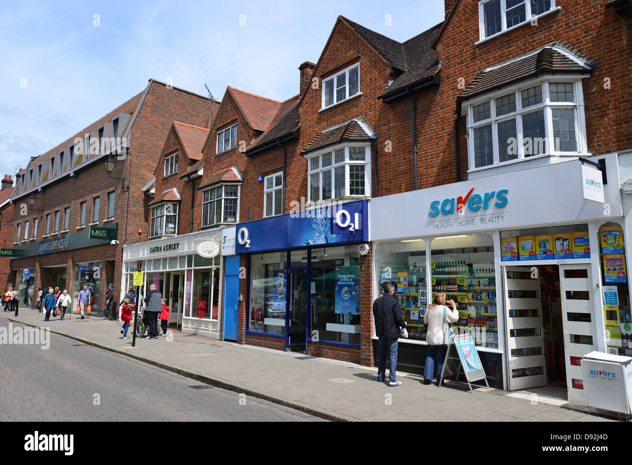 South Street, Bishop's Stortford, Hertfordshire, England, United Kingdom Stock Photo