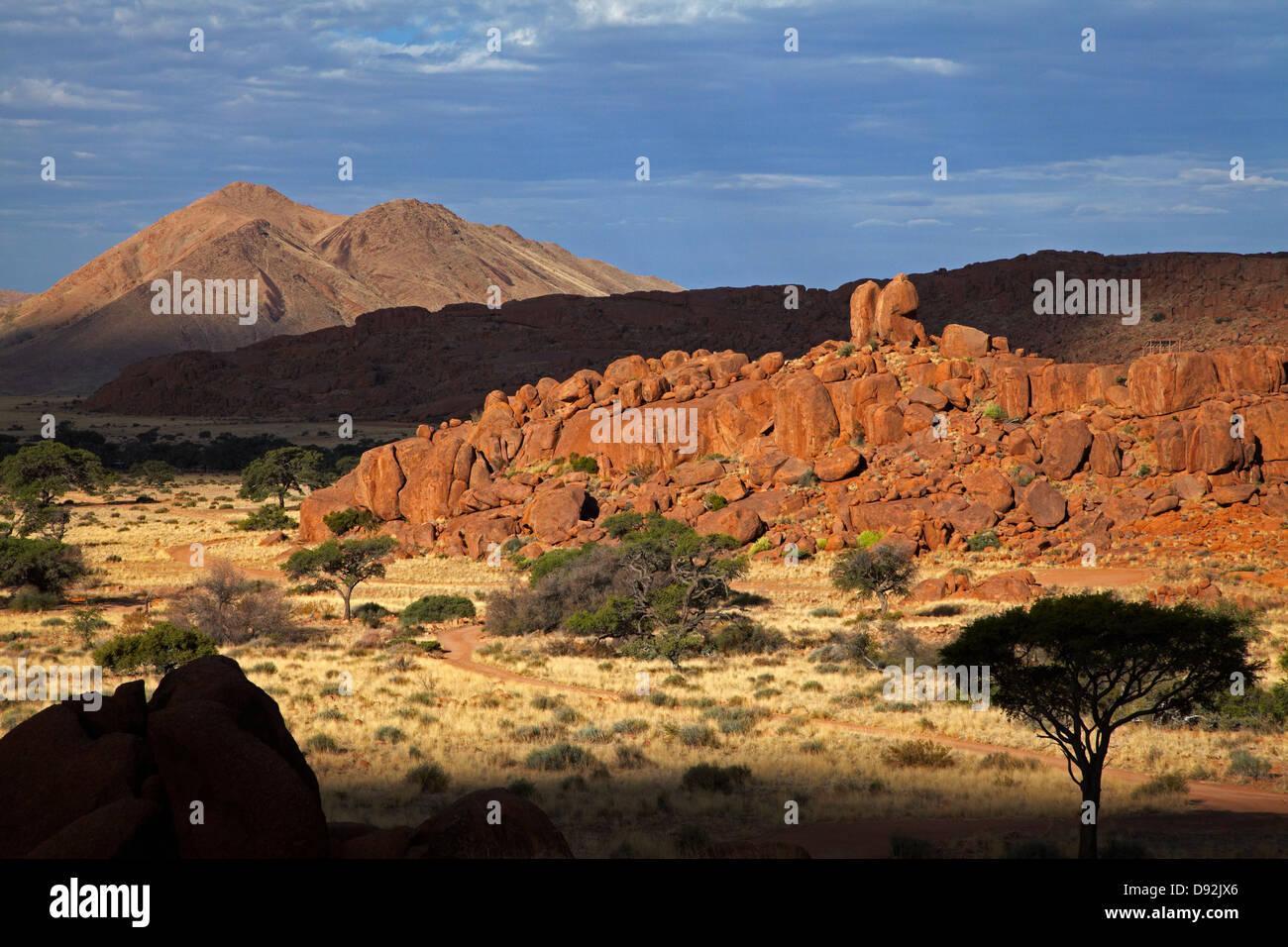 Rock formations, Ranch Koiimasis, Tiras Mountains, Southern Namibia, Africa - Stock Image