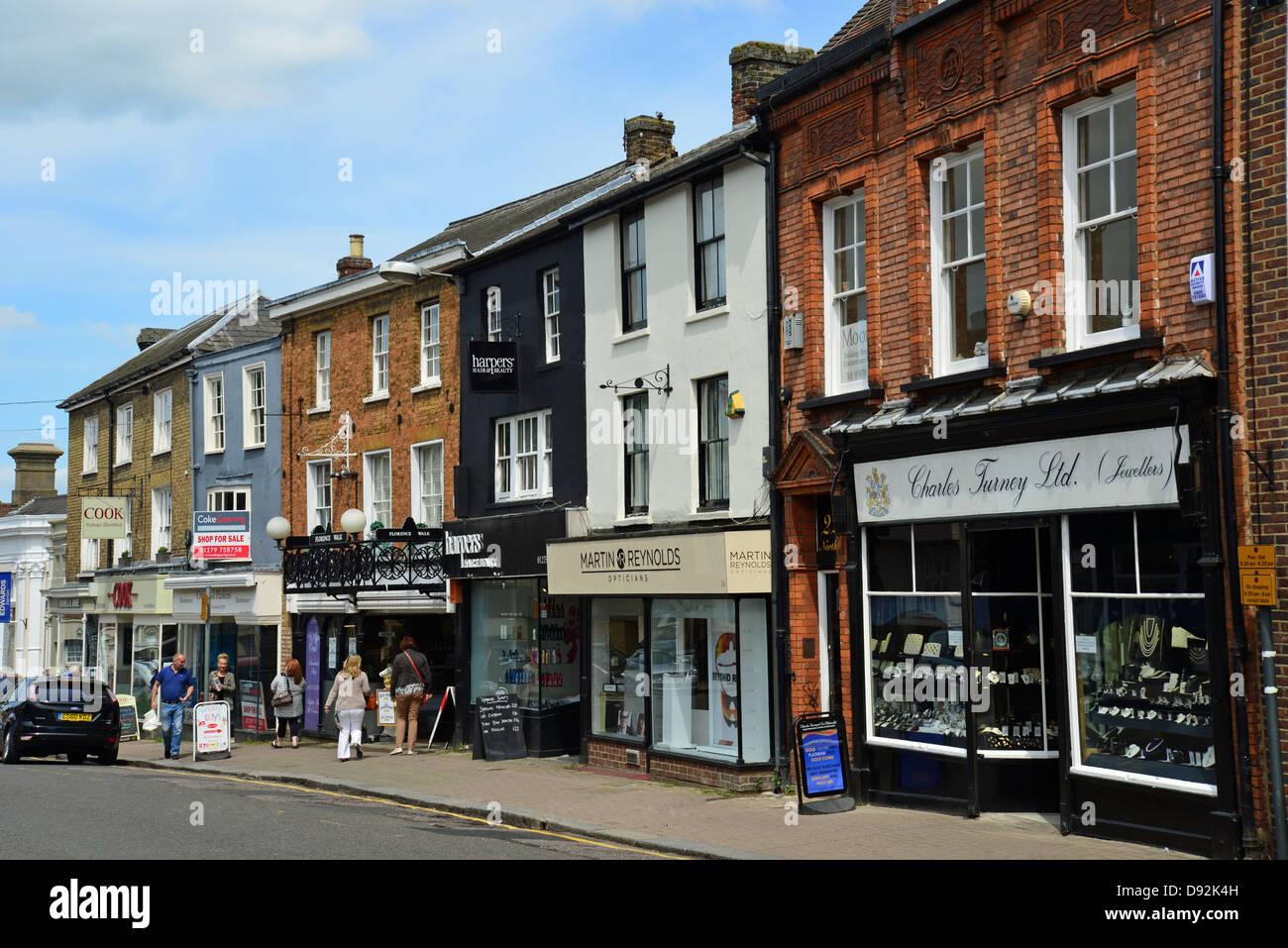 North Street, Bishop's Stortford, Hertfordshire, England, United Kingdom Stock Photo