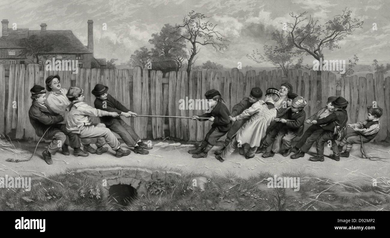 Tug of War, 1879 - Stock Image