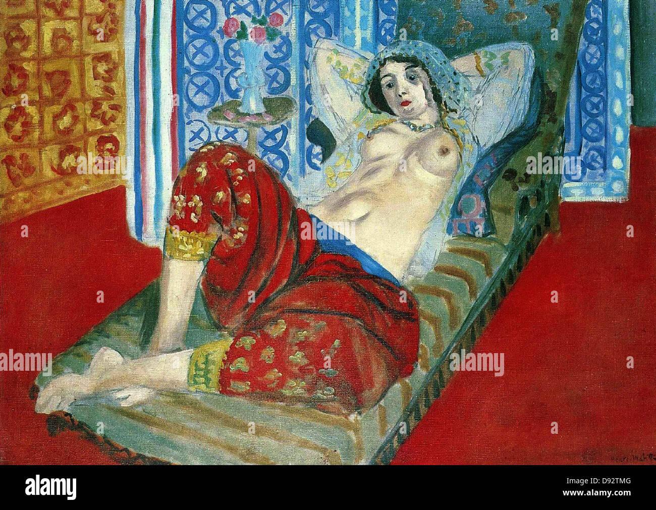 Henri Matisse Odalisque à la culotte rouge 1921 Centre Georges Pompidou - Paris - Stock Image