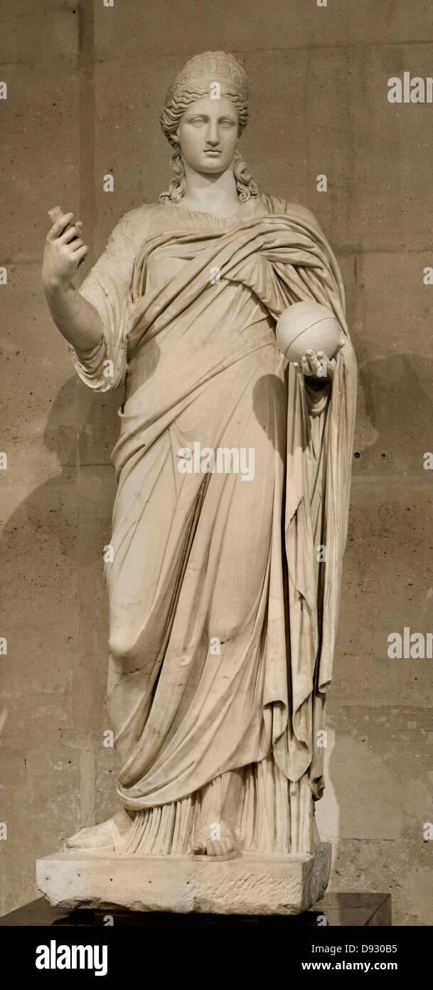 Goddess Junon II second century after J-C Paris, Louvre Museum - Stock Image
