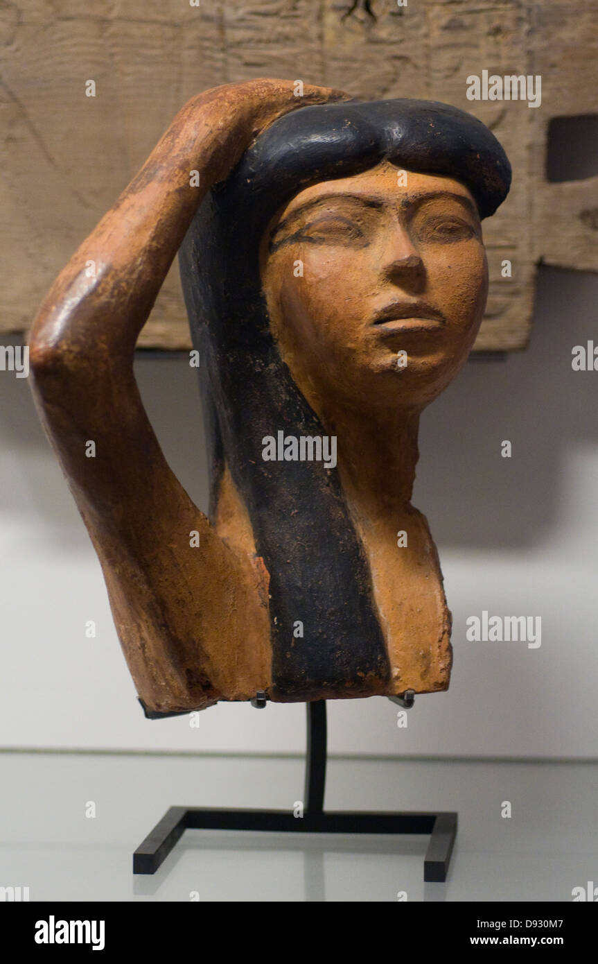 Figure of weeping 18th dynasty, 1550 - 1295 BC Louvre Museum Paris - Stock Image