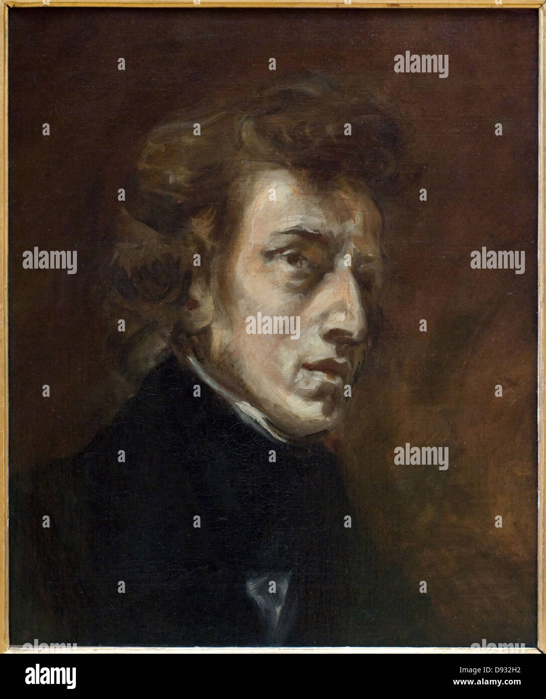 Eugene Delacroix Frederic Chopin 1838 XIX th century French school Louvre Museum - Paris - Stock Image