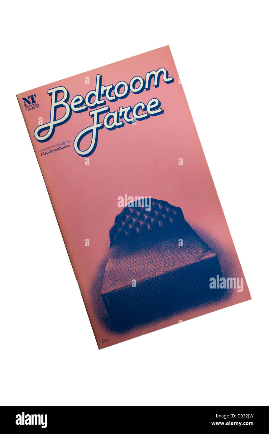 Programme for the 1977 production of Bedroom Farce at the Lyttelton Theatre. - Stock Image