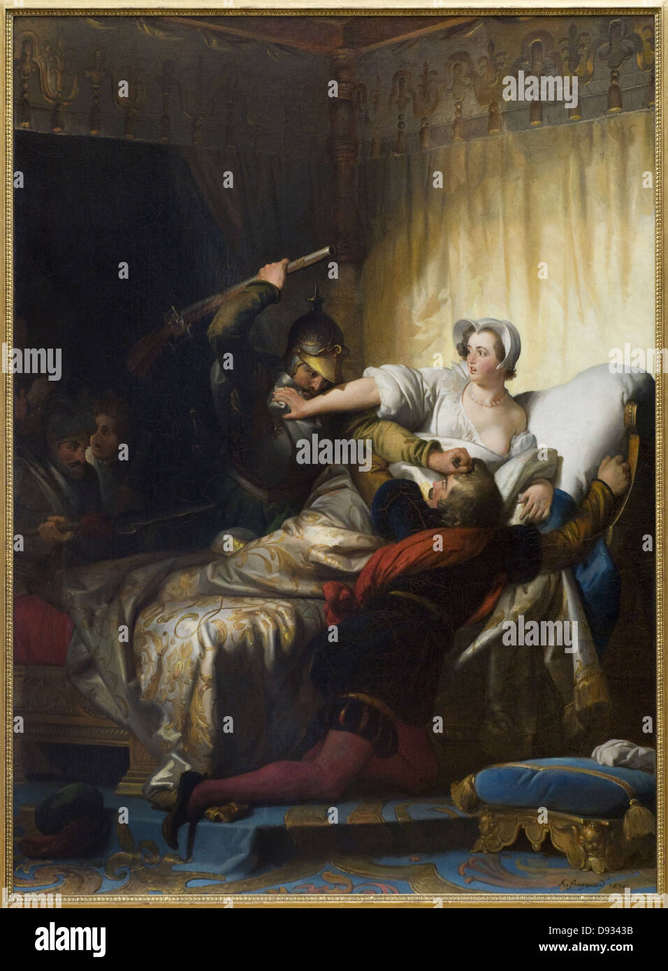 Alexandre-Evariste Fragonard Scene du massacre de la Saint-Barthelemy - Scene of the Massacre of St. Bartholomew - Stock Image