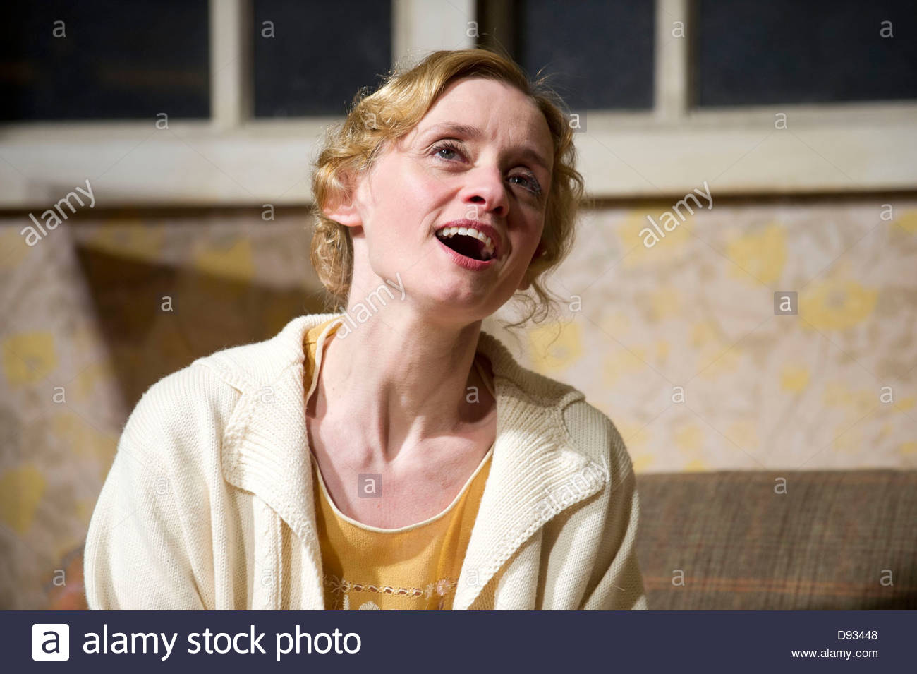 Strange Interlude by Eugene O'Neill, directed by Simon Godwin. With Anne-Marie Duff as Nina Leeds, Opens at - Stock Image