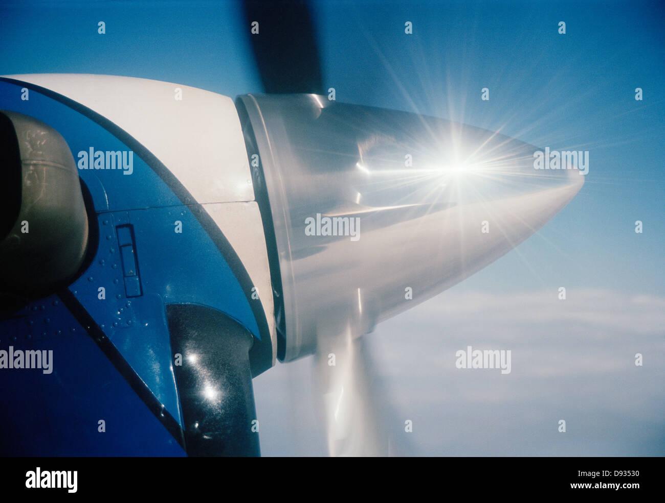 Shining airscrew, Sweden. - Stock Image
