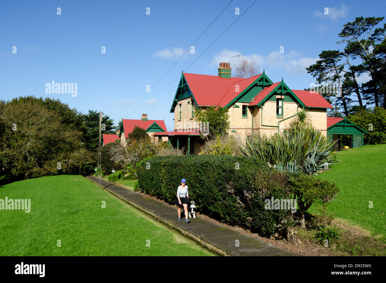 Chelsea Sugar Refinery village and housing in Highbury, Birkenhead, Auckland city, New Zealand - Stock Image