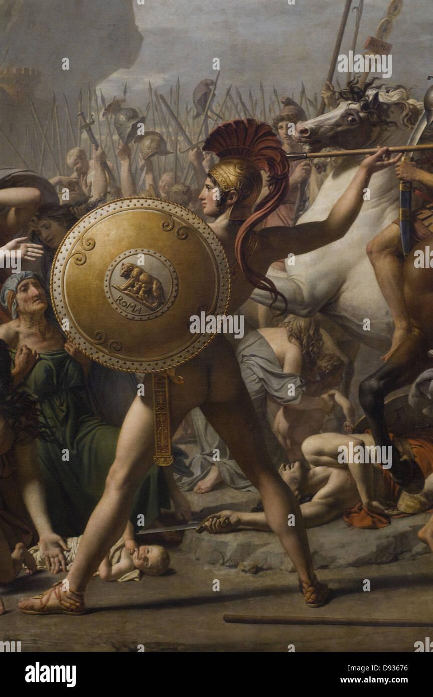 Louis David Les Sabines 1808 retail XIX th Century French school Louvre Museum - Paris - Stock Image