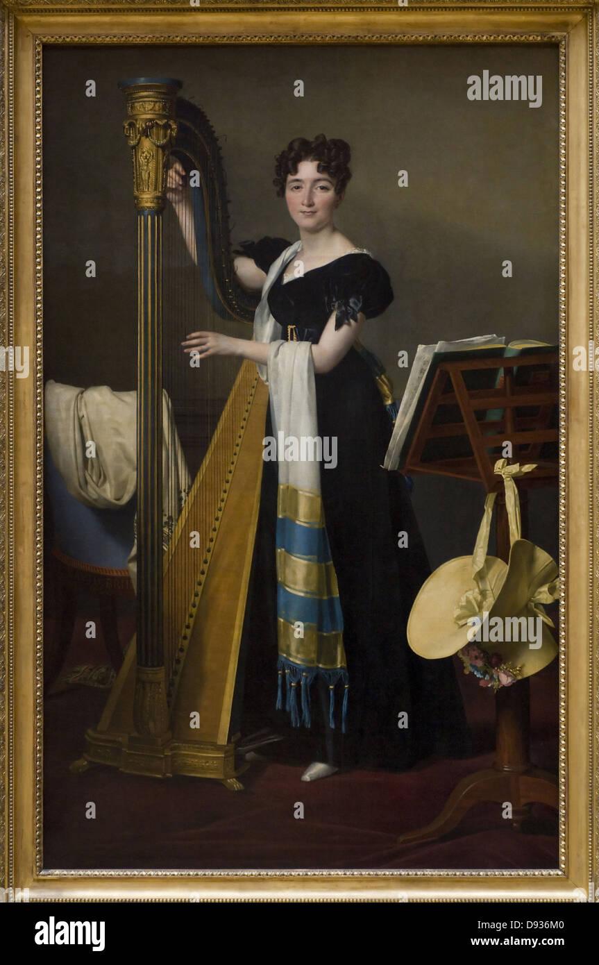 Louis David Juliette Blais de Villeneuve 1824 XIX th Century French school Louvre Museum - Paris - Stock Image