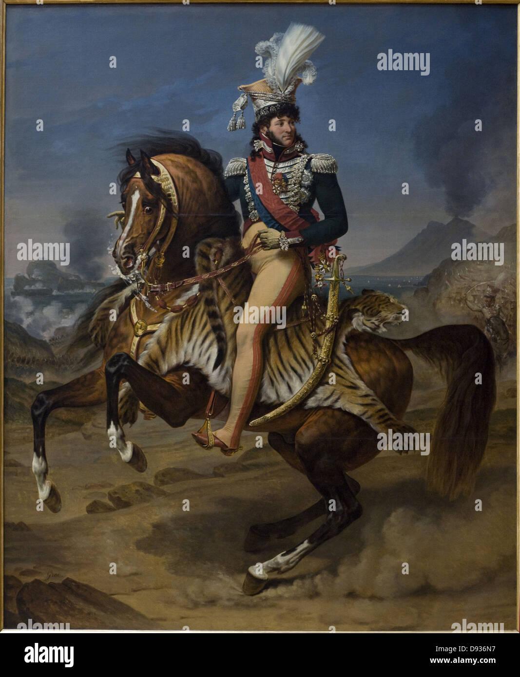 Baron Antoine-Jean Gros Joachim Murat, roi de Naples - King of Napoli 1812 XIX th Century French school Louvre Museum - Stock Image
