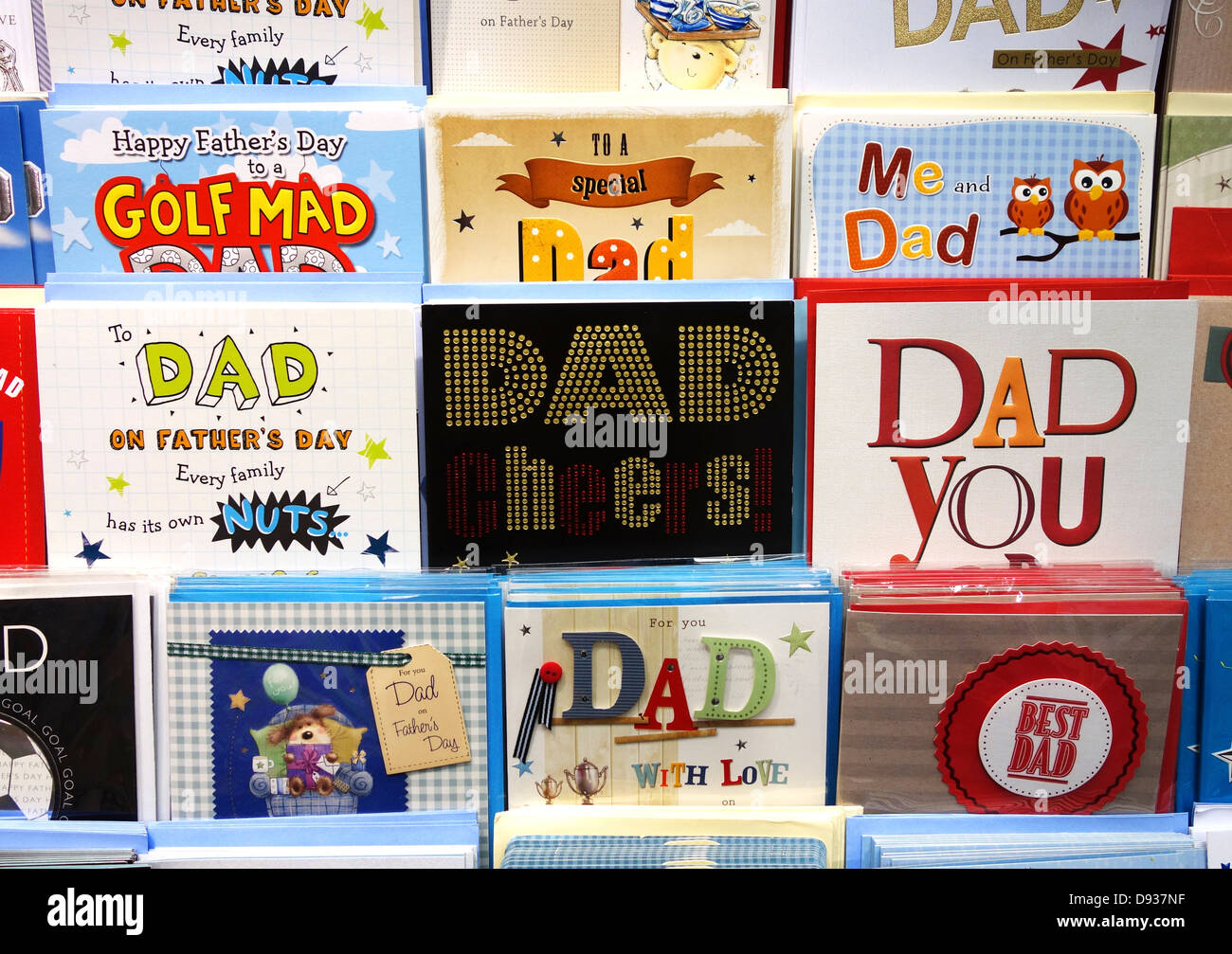 fathers day cards - Stock Image