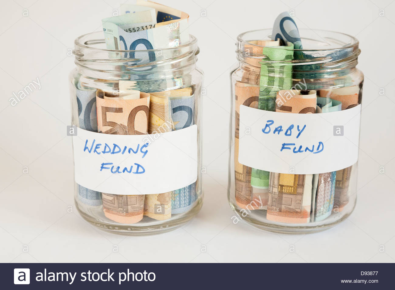 concept of saving money for wedding and baby in future Stock Photo ...