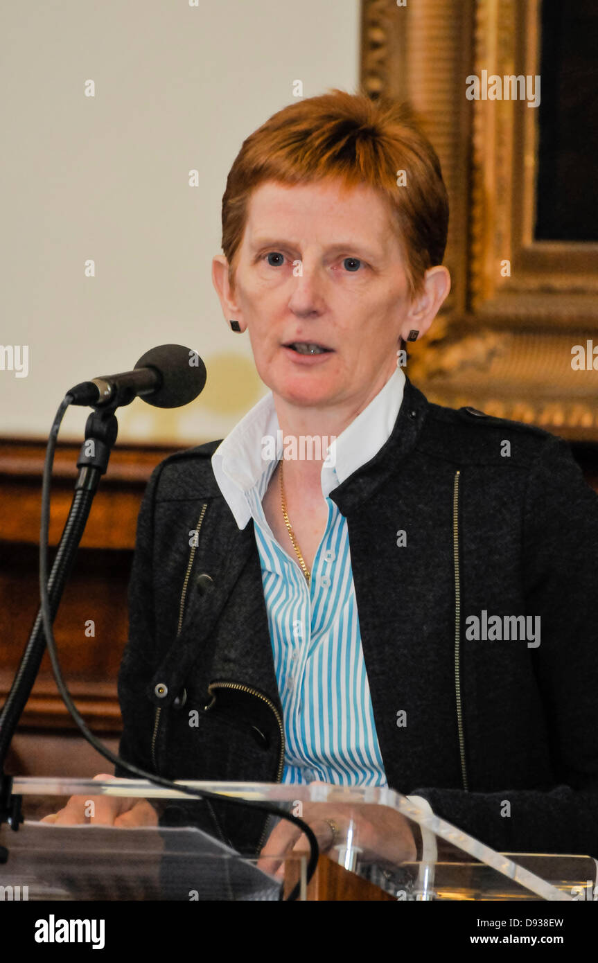Belfast, Northern Ireland. 10th June 2013. Dr Anne Wilson, Consultant in Health Protection at the Public Health - Stock Image