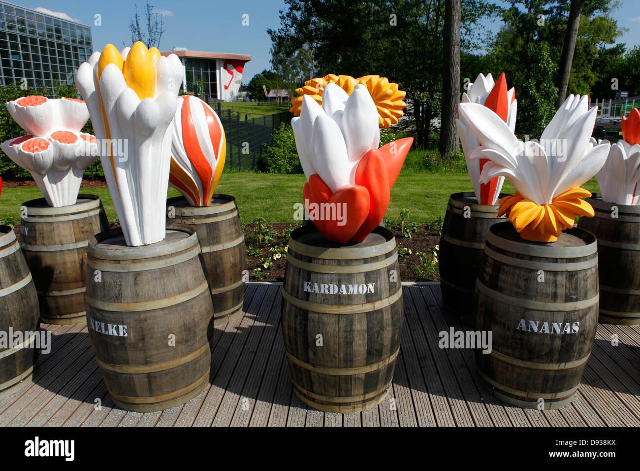 A spice exhibit at the International Garden Show 2013 (IGS) on Wilhelmsburg Island in Hamburg, Germany. Stock Photo