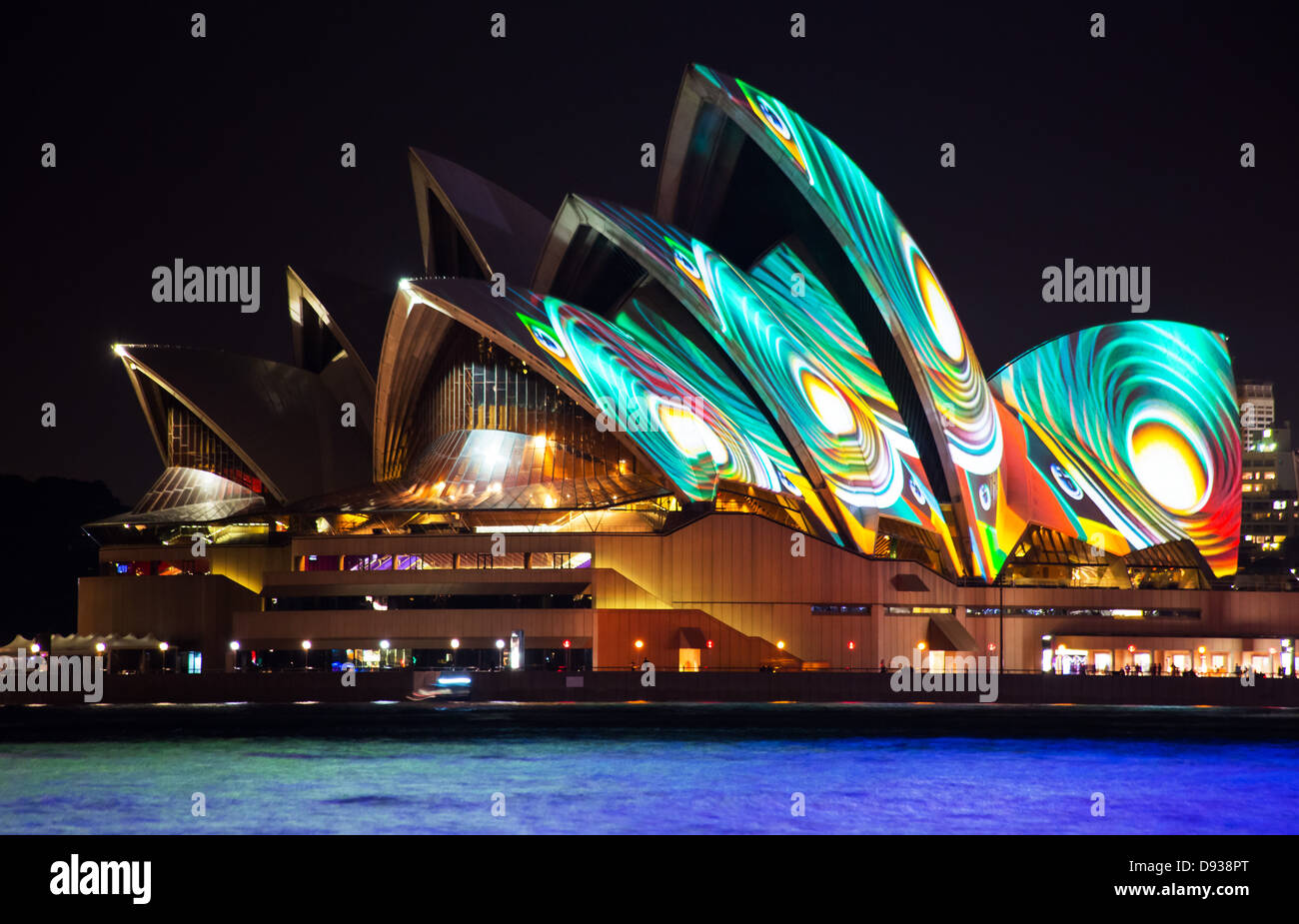 Special lighting effects on the Sydney Opera House during the annual Vivid Sydney Light Festival Australia & Special lighting effects on the Sydney Opera House during the annual ...