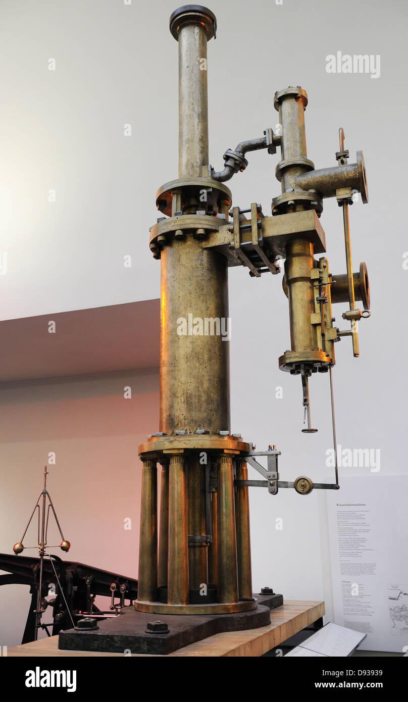 Brine Pump. Georg von Reichenbach, 1817. Deutches Museum. Munich. Germany. - Stock Image