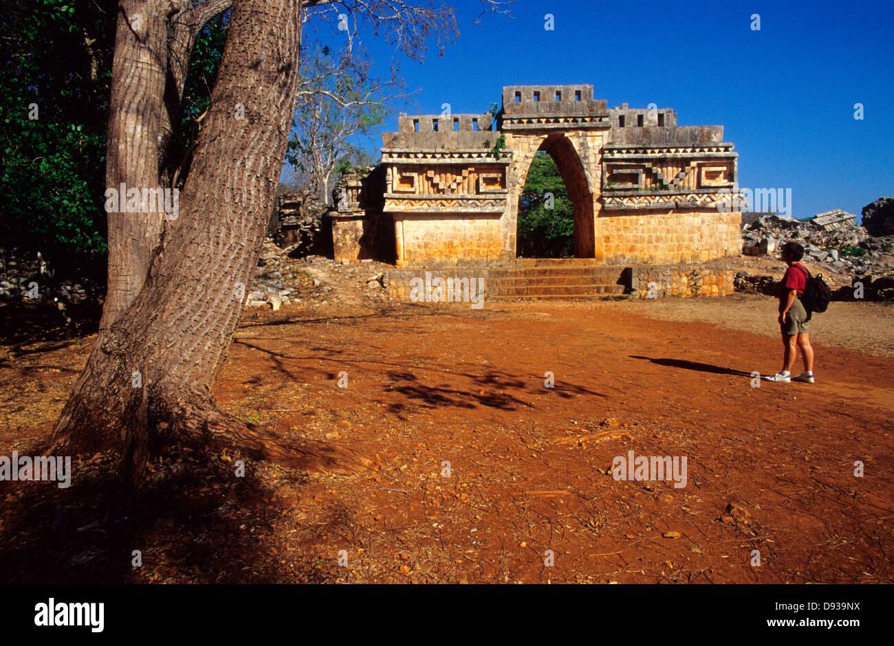 Labna Arch.Mayan ruins. Puuc Route.Yucatan.Mexico. Stock Photo