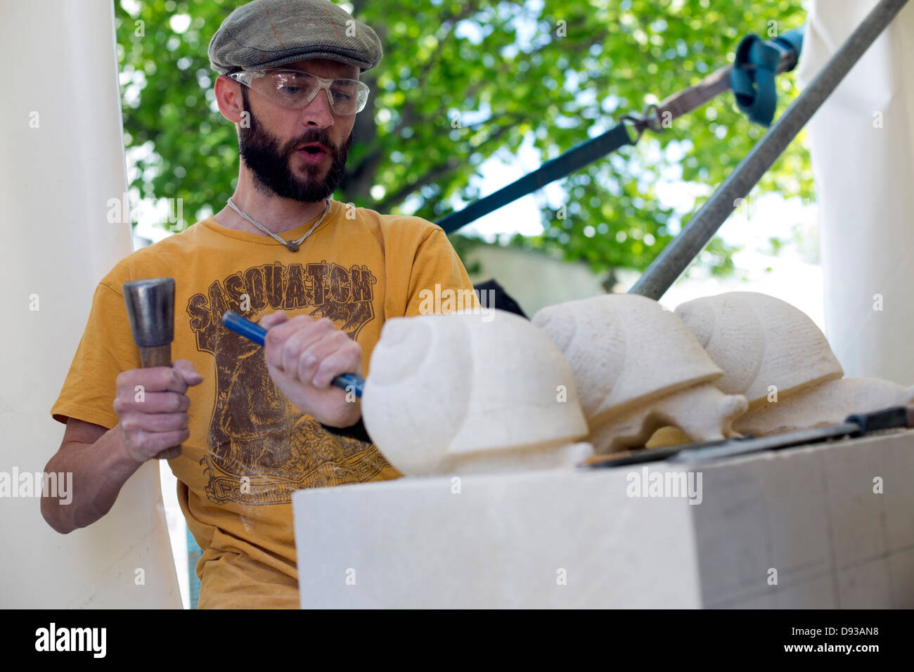 FESTIVAL OF STONE - sculpture competition in Bristol - Stock Image