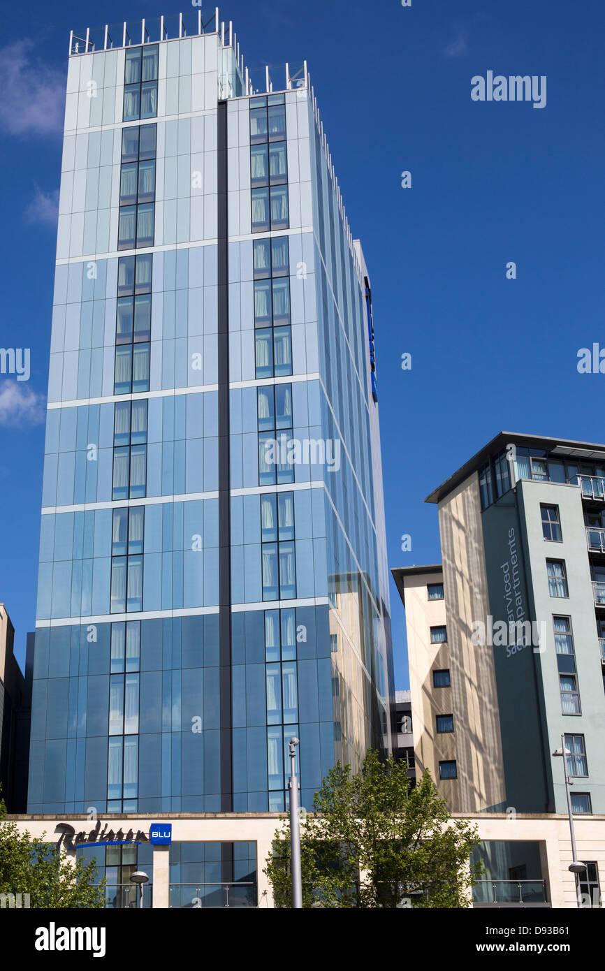 Bristol Harbourside Radisson Blu hotel - Stock Image