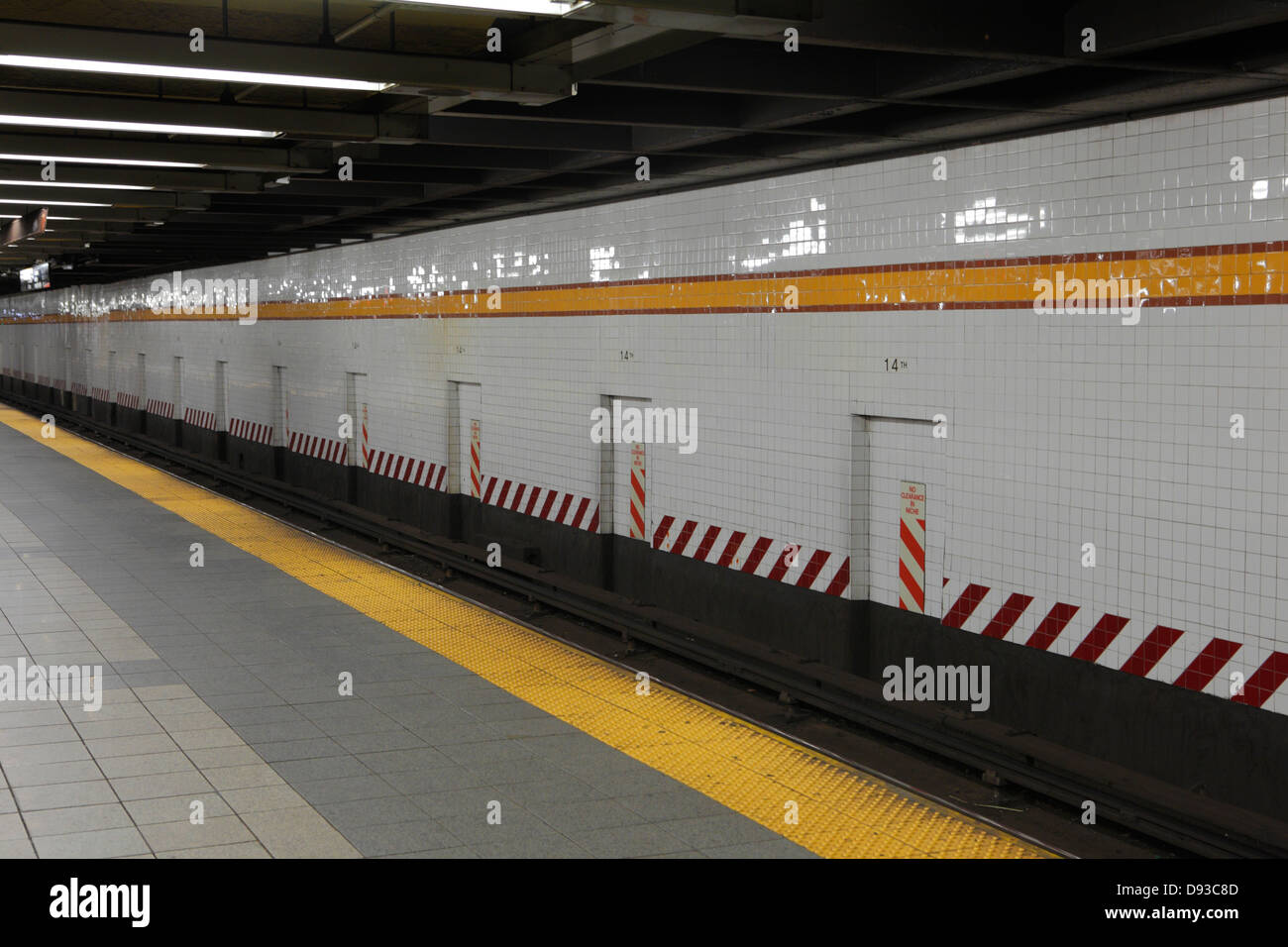 New York Subway Station - Stock Image
