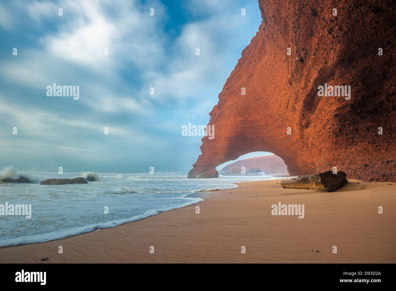 Legzira beach, Morocco - Stock Image