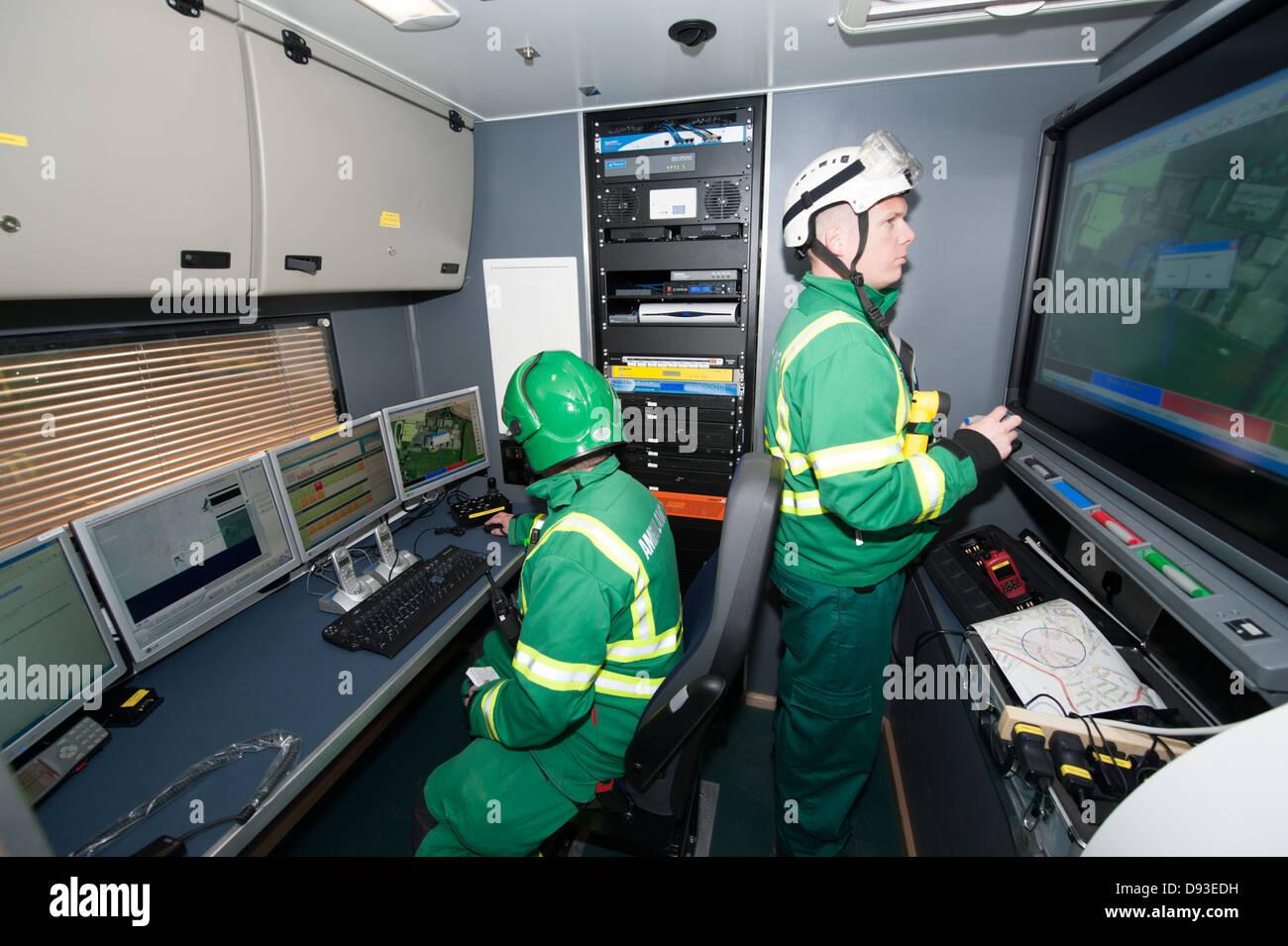 Ambulance HART Paramedic Major Incident Command Unit - Stock Image