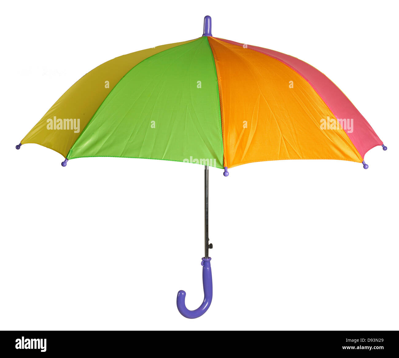 multi color umbrella - Stock Image