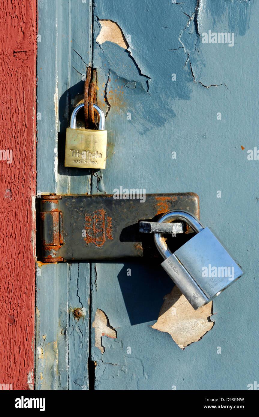 Old padlocked door - Stock Image & Padlocked Door Stock Photos \u0026 Padlocked Door Stock Images - Alamy