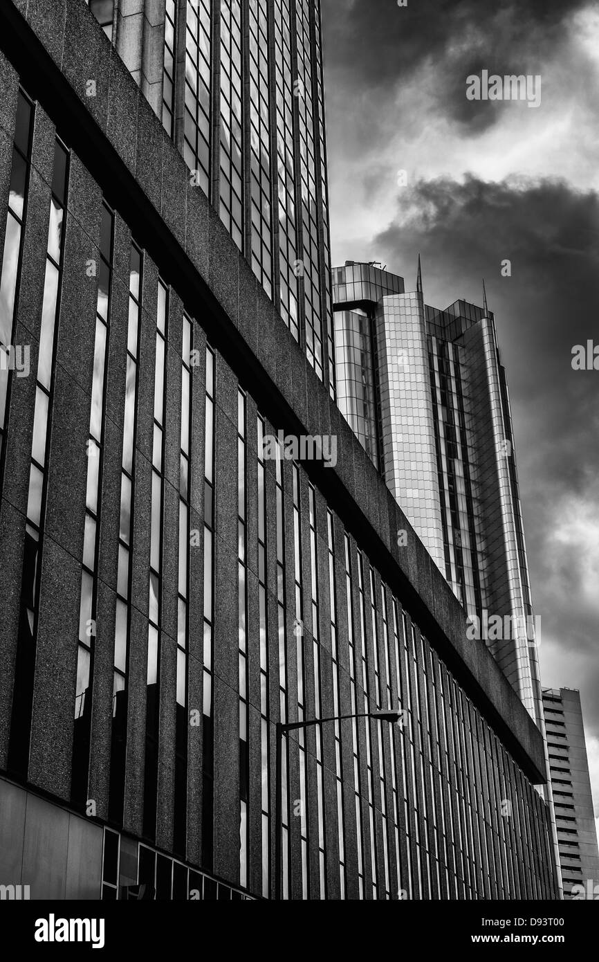 High rise office buildings in Birmingham city centre, UK. - Stock Image