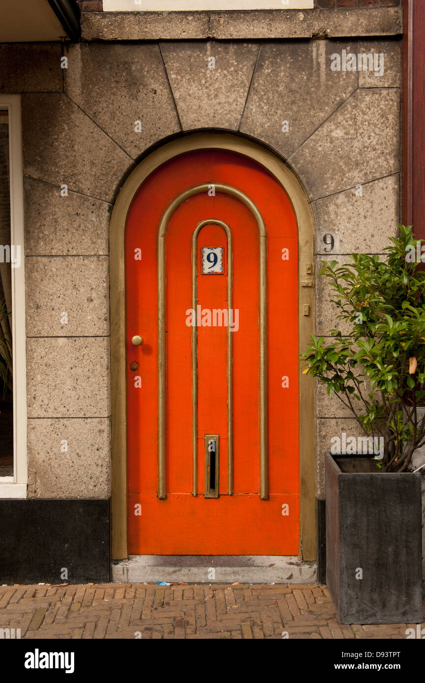 Red Arched Front Door No 9 Number Stock Photo 57248320 Alamy